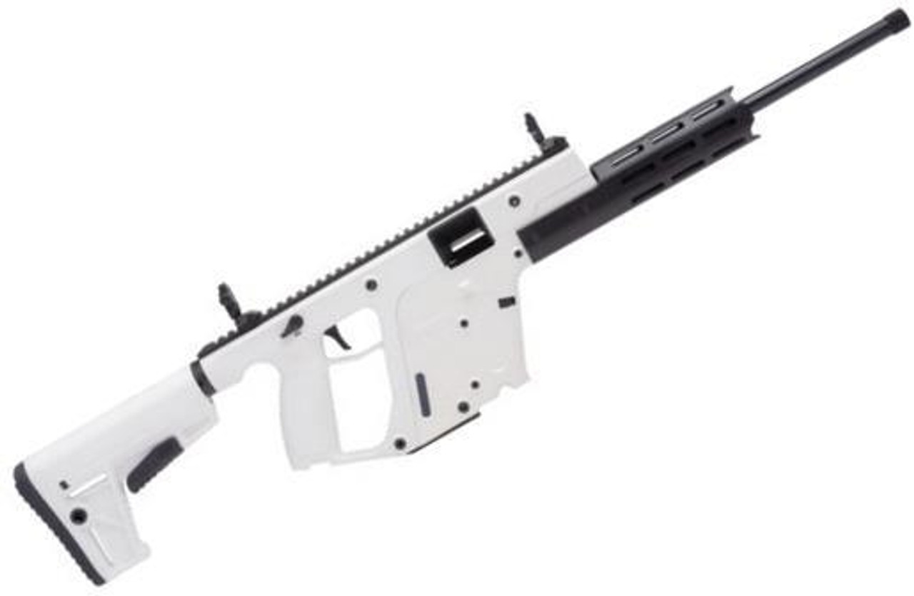 "KRISS Vector CRB G2 Semi-Auto Rimfire Rifle - 22 LR, 16"", w/Square Enhanced Black Shroud, Alpine White"