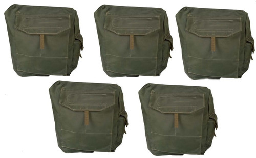 5 x Canadian Military Issue Web Gas Mask Bag - no straps