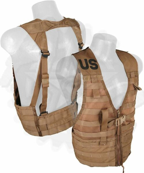 USMC Molle Vest in Coyote Brown - Used,