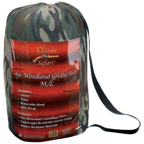 Classic Safari™ 4pc Woodland Ghillie Suit XL/2XL