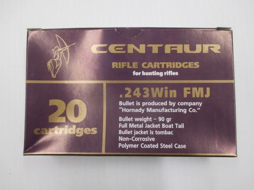 Barnaul Centaur 243 FMJ 90gr - 260rd Case