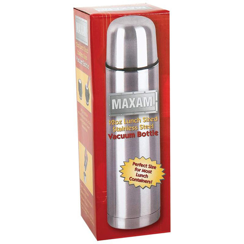 Maxam® 12oz Stainless Steel Vacuum Bottle