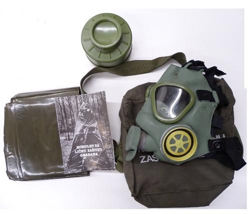 Yugo M1 Gas Mask + Chemical Suit - Excellent-New Condition