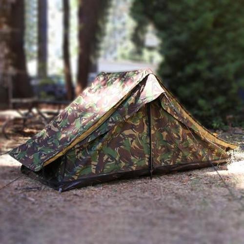 Dutch Army Woodland Camouflage Tent