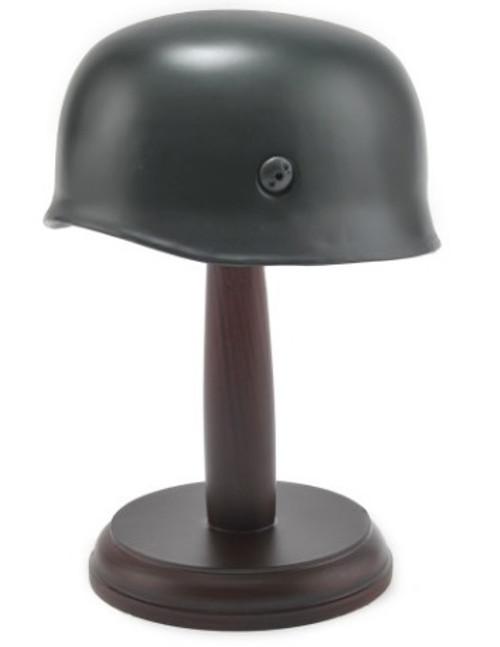 Desktop German WW2 M38 Fallschirmjäger Paratrooper Helmet with wood stand