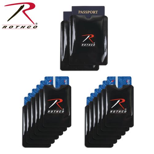 Rothco RFID Blocking Credit Card and Passport Sleeves