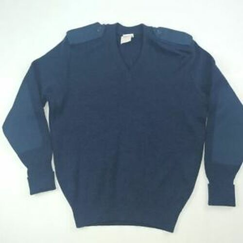 Surplus Canadian Air Force Blue V Neck Wool Sweater