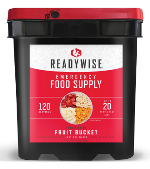 ReadyWise Freeze Dried Fruit and Gourmet Pack - 120 Servings
