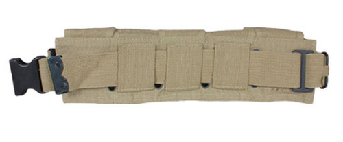 FOX - GI Style 10-Pocket Canvas Cartridge Belt - Khaki