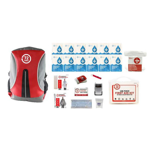 1 Person 72HRS Essential Backpack - Emergency Survival Kit