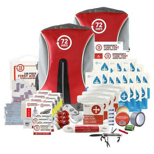 4 Person 72HRS Deluxe Backpack - Emergency Survival Kit