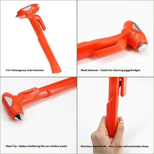 3-in-1 Deluxe Safety Emergency Escape Tool - 9. 1 inches
