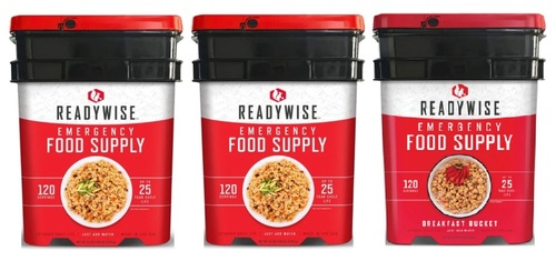 Readywise 240 Servings Entrees  (2 Buckets)+ 120 Servings Breakfast (1 Bucket)