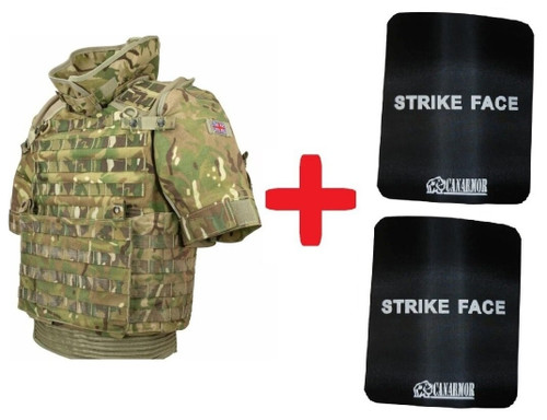 British Osprey Level 4 Armor Set ,MTP Camo Size X-Large (Neck Protecter Not Included)