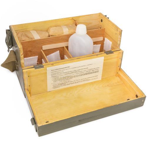 Surplus Czech Army Wooden Medical Box