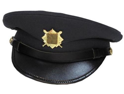 CZECH SLOVAKIAN PEAKED CAP WITH BADGE - BLUE - NEW GENUINE EUROPEAN SURPLUS