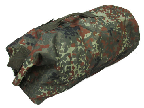 MILITARY UNIFORM SUPPLY TOP LOAD DUFFLE BAG 12X26 - FLECKTARN CAMO