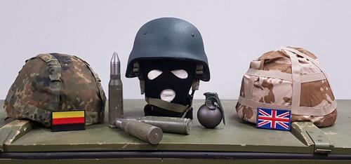 RBR Armour LTD, Kevlar Helmet. UK & German Covers.