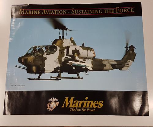Orders $100+ USMC Poster F/A-18 Hornet and AH-1W Super Cobra