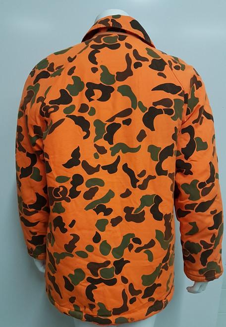 Golden Retriever Outdoor Apparel Vintage Orange Camo Jacket - Medium