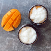 Our latest creation, organic sugar scrubs, are creatively blended with multiple types of sugar, natural extracts, essential oils + plant-based oils. We promise this will make exfoliation a fragrantly silky and comfortable experience! Our Mango Coconut sugar scrub features organic mango and coconut extracts along with organic jojoba beads for a deliciously fragrant skin treat!