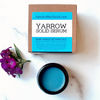 eady to quench your skin with calming moisture? Our blue yarrow opal serum calms, moisturizes, and soothes even the most troublesome skin. How does it smell? Divine! Siberian Rhododendron  along with Blue Yarrow is fresh with top notes of berry sweetness. Our combination of healing, aroma-therapeutic plant oils will quench your skin and calm issues associated with acne and rosacea. This balm-to-serum concentrate melts against the warmth of your skin quenches your skin with calming moisture that soothes even the most troublesome skin conditions.