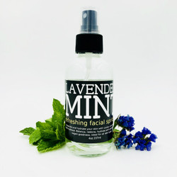 The goal of this refreshing, uplifting facial spritzer is to moisturize and nourish your skin with healing and moisture retaining Aloe Vera Leaf Juice, Lavender and Peppermint Flower Hydrosols