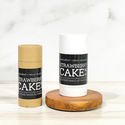 Sweet, juicy, mouthwatering Strawberry natural deodorant featuring Strawberry Extract combined with a unique blend of ingredients to naturally combat excess moisture and control odor while treating the sensitive underarm skin to lightweight, healing ingredients. This Zero baking soda means zero irritation! Powdered Magnesium and Organic Potato Starch offers the powerful combination to combat moisture and odor. t's our belief you can achieve subtle, beautifully fragranced deodorants that work to combat moisture and odor without compromise! The ingredient combination in our deodorants will offer dry underarms, naturally fragrant benefits without the ineffectiveness and/or irritation many natural deodorants cause.