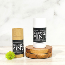 Clean and fresh Mint combined with herbacious Rosemary and other proprietary essential oils combined with a unique blend of ingredients to naturally combat excess moisture and control odor while treating the sensitive underarm skin to lightweight, healing ingredients, oils and skin beneficial essential oils. Zero baking soda means zero irritation! Powdered Magnesium and Organic Potato Starch offers the powerful combination to combat moisture and odor. t's our belief you can achieve subtle, beautifully fragranced deodorants that work to combat moisture and odor without compromise!