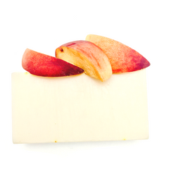 That sweet aroma of a freshly cut peach! Juicy, delicious Peach, Berries, floral Apple with creamy Vanilla and Coconut. Clean rinsing, large bubbles and a blend of Shea and Cocoa Butter combined to create a firm bar providing silky soft skin on rinsing. This organic bar also features a new vegetable derived liquid surfactant added in to increase rinsability and creates lots of lather. Ideal for all skin types including sensitive, psoriasis, eczema and those with allergies.