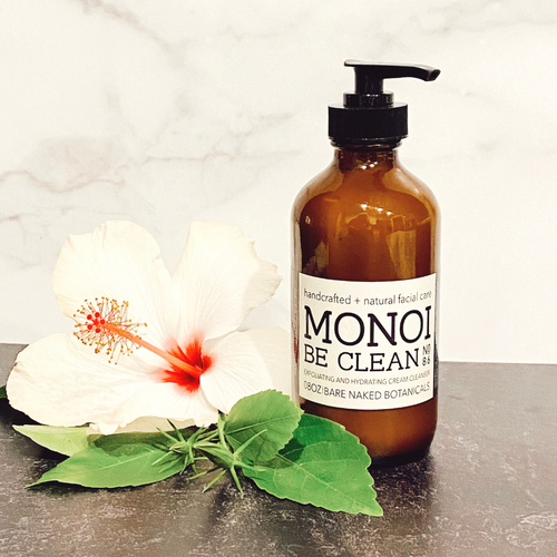 Exfoliate, hydrate, and reveal your healthy alive skin! Tahitian Monoi Oil and Monoi Butter beautifully scented with the delicate fragrance of Tahitian Tiare Flowers, rich organic Cupuacu butter and exfoliating coconut shell granules along with sugar cane extract slough away the old to reveal the new! This scrub has it all! the power of and control of a manual exfoliation, plus the added benefit of some natural chemical breackdown of dead skin with fermented fruit acids!  Tahitian Monoi Oil has been used for centuries by South Pacific Islanders. This delicately fragranced facial cleanser is rich in anti-aging nutrients to renew tired, dehydrated, and aging skin. Rich in exotic butters, naturally scented due to the nature of Tahitian Tiare Flowers and multiple antioxidants are sure to refine skin, increase hydration, lessen fine lines, wrinkles, sagging and reduce redness in irritated skin types. Wild-harvested Cupuacu Butter, Tahitian Monoi sooth and reduce ruddiness and hydrate tired, dry, and moderately dry skin. Fruit Acis assist in reducing cellular debris, such as oils, dead skin and residual cosmetics, to increase circulation, improve barrier function of the skin, allow for improved penetration of skin care products, assist in reducing pore size and incidence of black heads with consistent use.