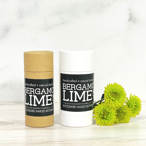 Fresh, crisp and zesty Lime and Bergamot combined with a unique blend of ingredients to naturally combat excess moisture and control odor while treating the sensitive underarm skin to lightweight, healing ingredients, oils and skin beneficial essential oils. Zero baking soda means zero irritation!