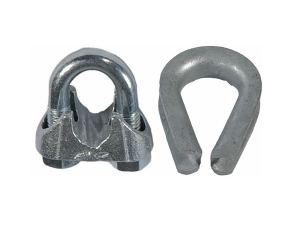 HarborWare Clamp & Thimble Set, Galvanized Steel 3/4-in