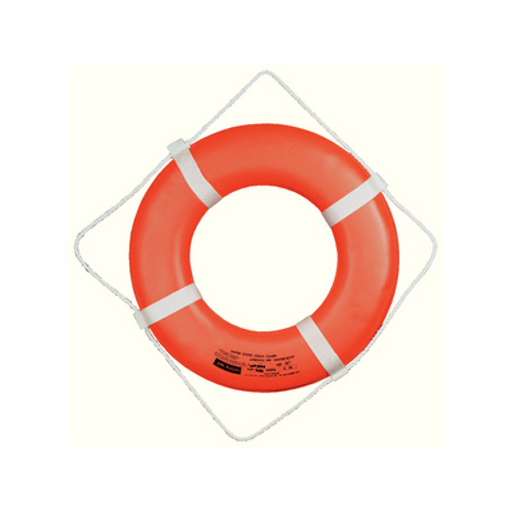 Cal-June G Style Life Ring Buoy w/ Straps, 24""