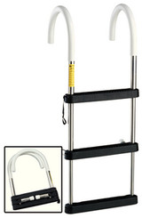 Garelick 4 Step Stainless Steel Telescoping Hook Ladder
