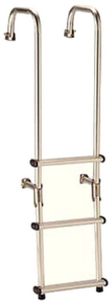 Garelick 3 Step Over Transom Ladder 10""