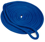 "Seachoice Double Braid Dock Line Blue 3/8""X15'"