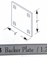 "HarborWare 5""x5"" Dock Bracket Back Plate"