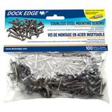 Dock Edge Dock Bumper Mounting Screws, SS 100-pk