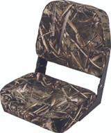 Wise Camouflage Fold-Down Boat Seat, Real Tree Max 5