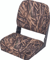 Wise Camouflage Fold-Down Boat Seat, Mossy Oak Shadow Grass