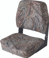 Wise Camouflage Fold-Down Boat Seat, Mossy Oak Bottomland