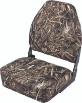 Wise Camouflage High-Back Fold-Down Seat, Real Tree Max 5