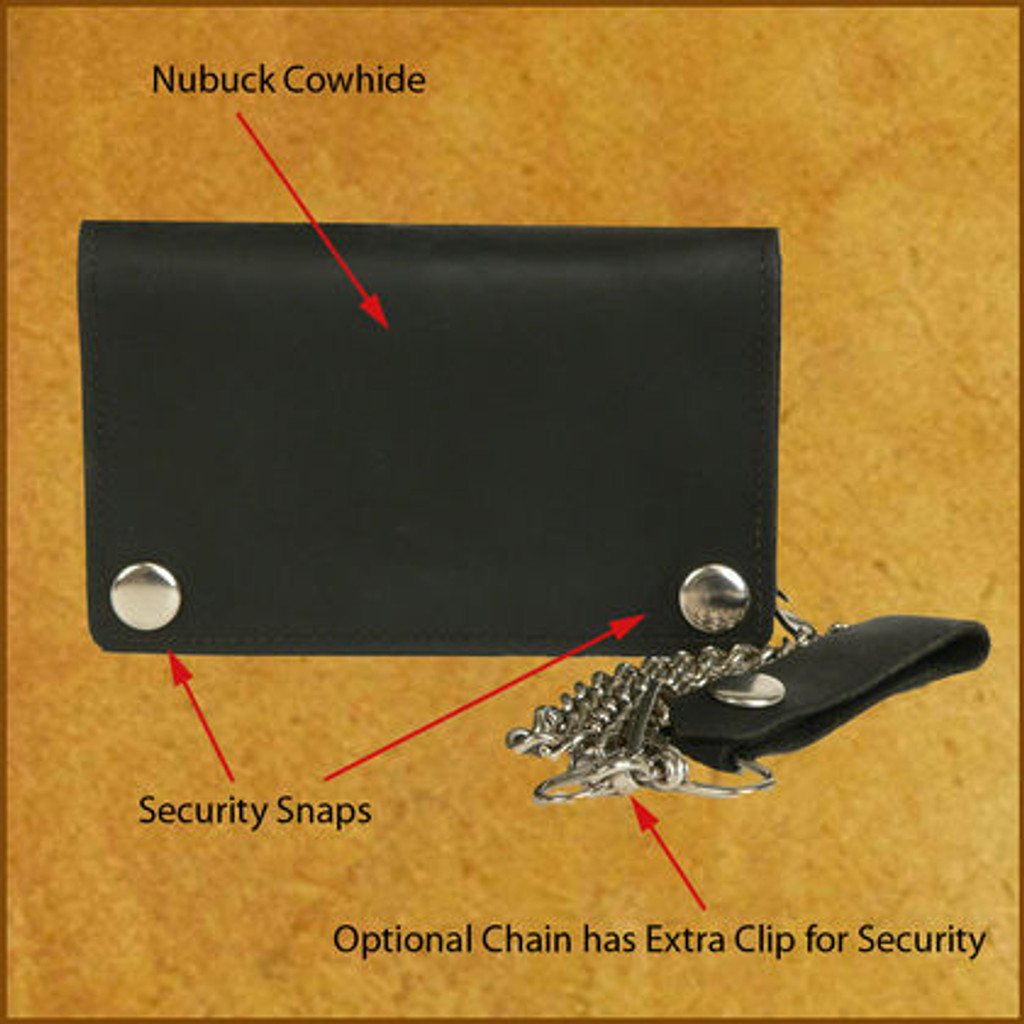 C-C Zip Chain Wallet w/ID Window