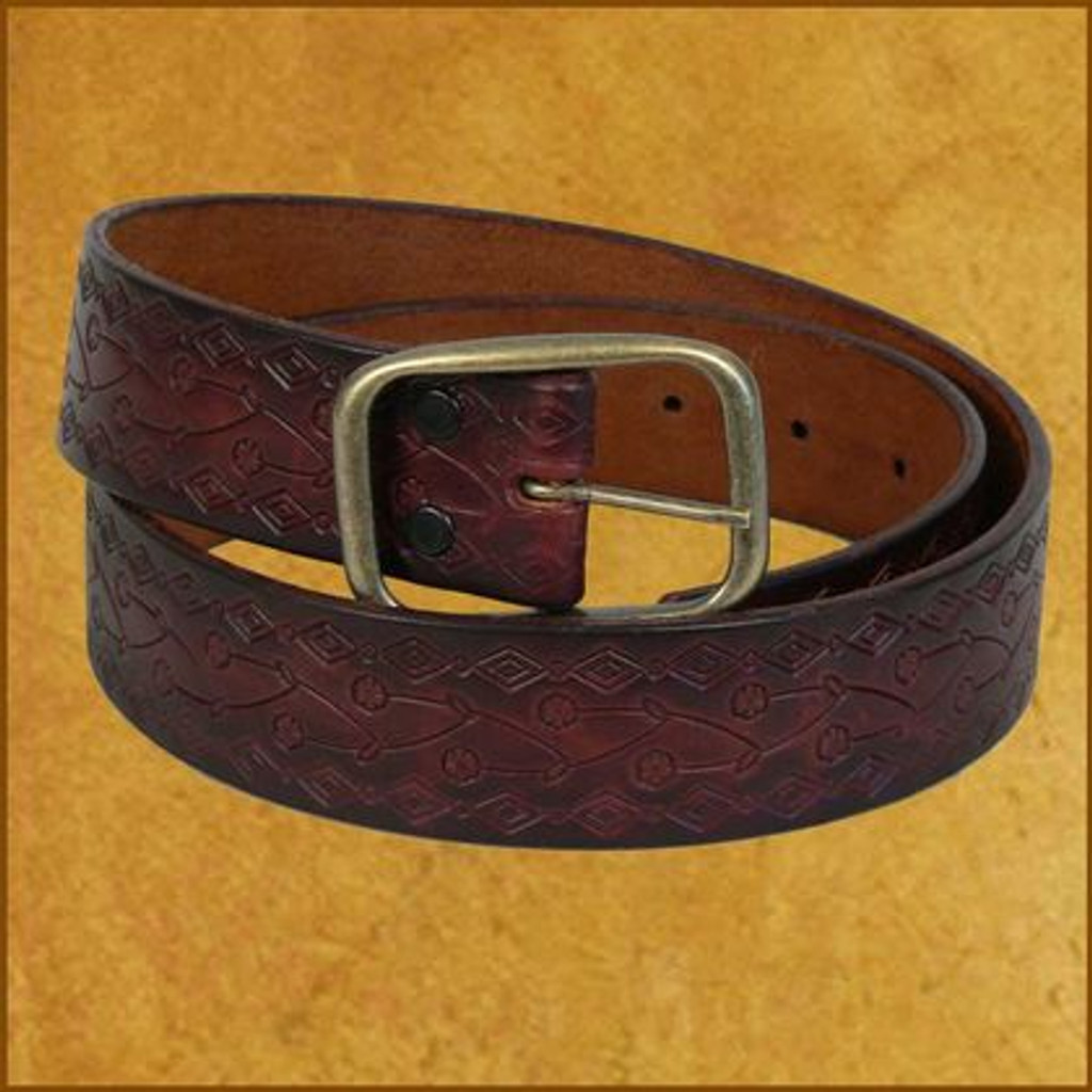 Diamond Scroll Belt