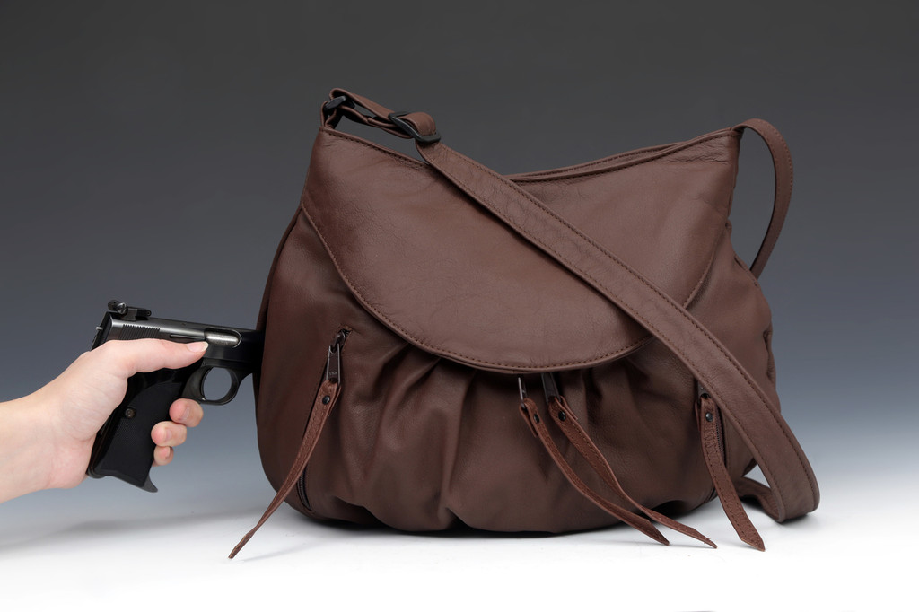 Cognac Combo | Small Route #66 Hobo with Overlay and Matching Strapped Wallet