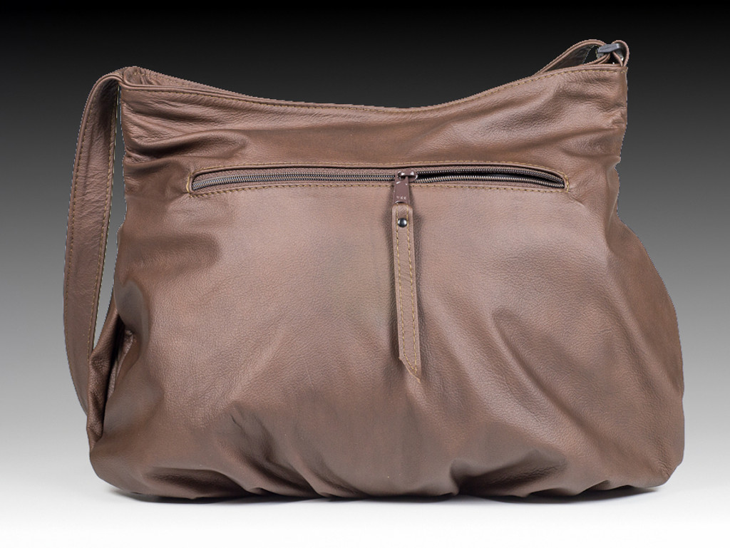 Distressed Brown Combo | Small Route #66 Hobo with Overlay and Matching Strapped Wallet