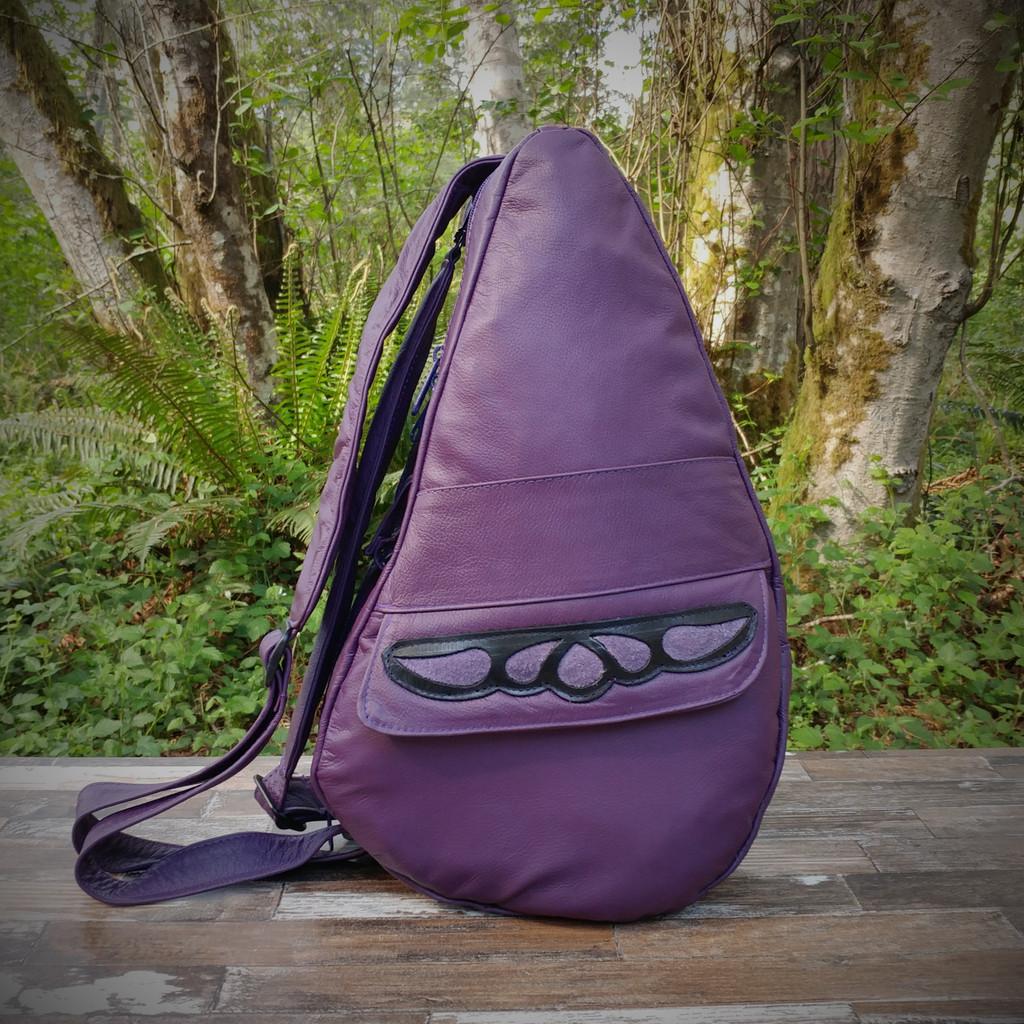 Medium Cognac TravelMate Backpack With Cognac Overlay.