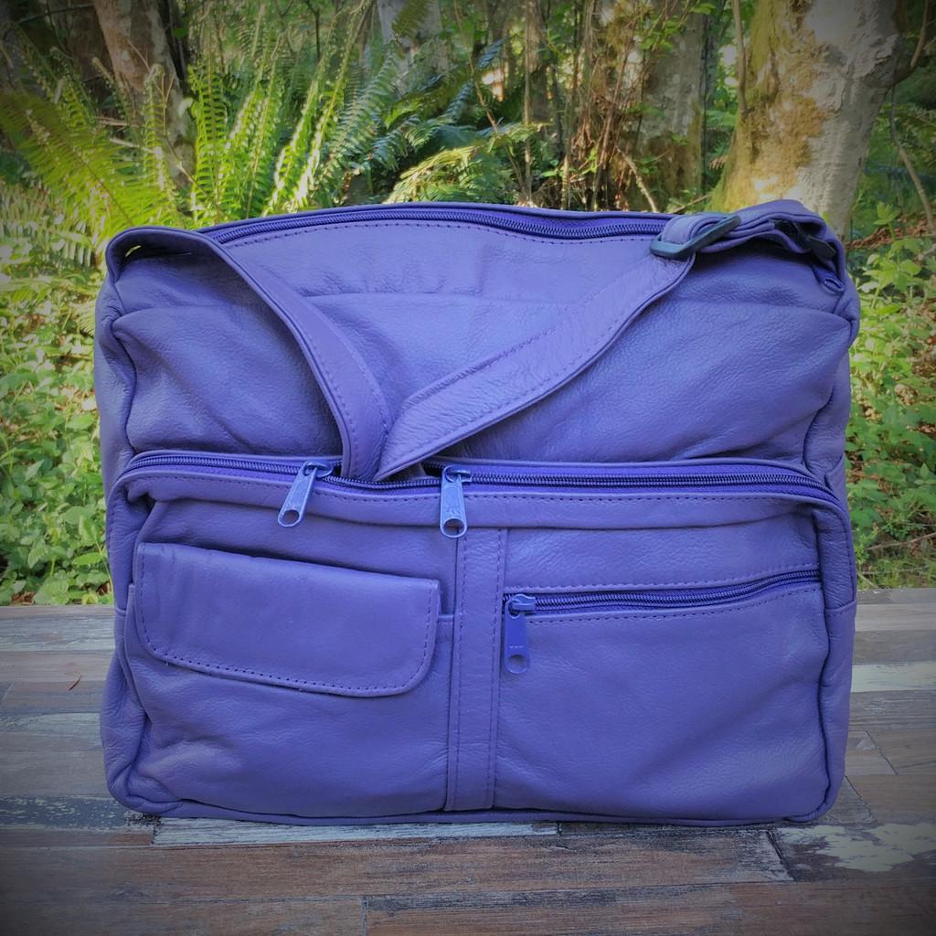 Purple Large Organizer with Overlay