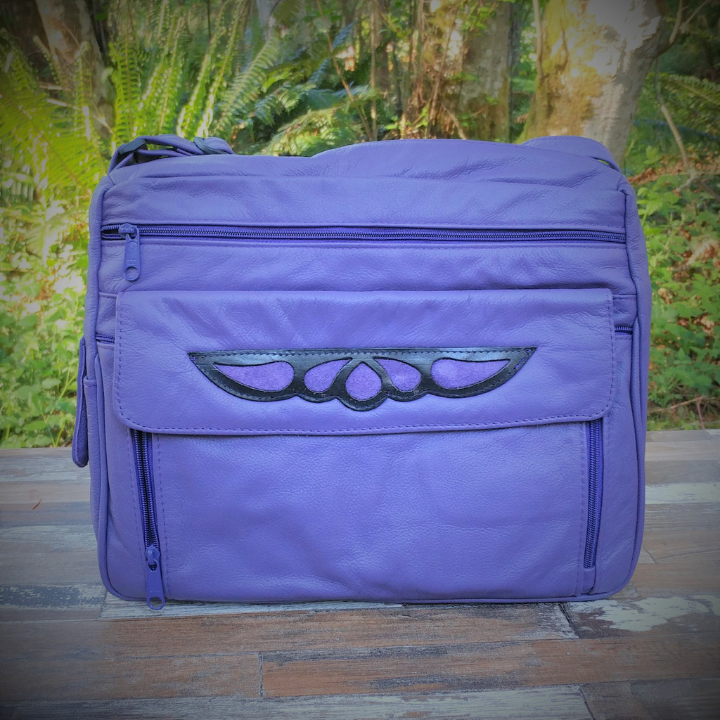 Purple Large Organizer with Overlay . One of a Kind!